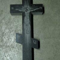 Крест с гравировкой распятия